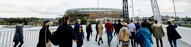 Holiday Inn Perth City Centre - How to get to Optus Stadium - Matagarup Bridge